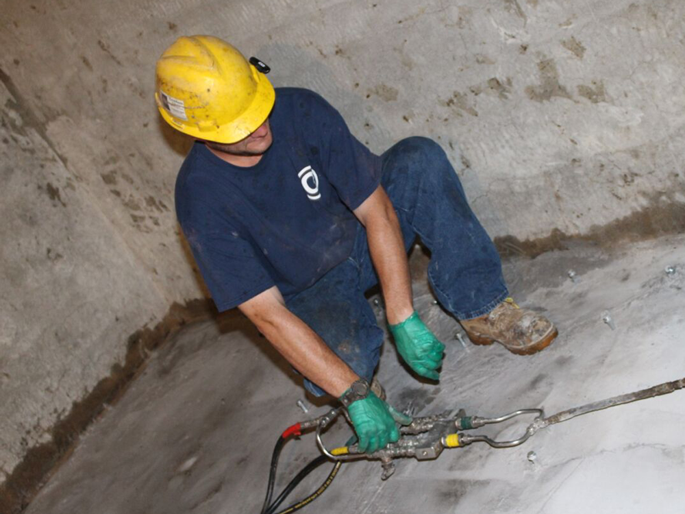 Chemical grout injection water proofing new york gombert